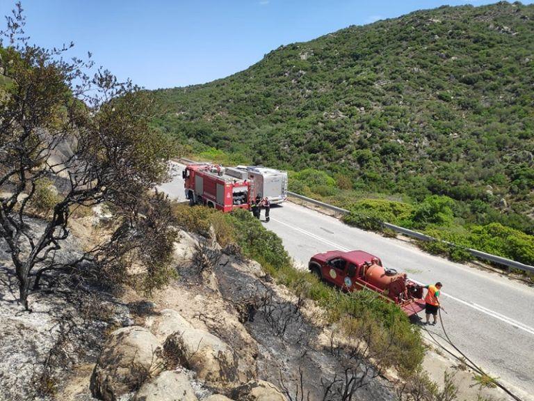Υπό μερικό έλεγχο η πυρκαγιά στο Καλαμίτσι Χαλκιδικής   tanea.gr