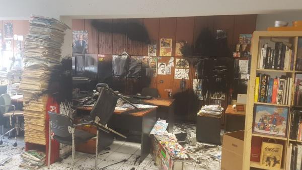 Θύελλα αντιδράσεων για την επίθεση Ρουβίκωνα στην Athens Voice | tanea.gr