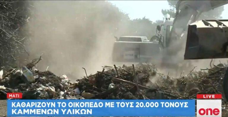 Μάτι: Καθαρίζουν το οικόπεδο με τους 20.000 τόνους καμμένων υλικών | tanea.gr