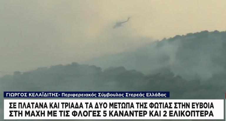 Σταυρός Ευβοίας: Αναζωπυρώθηκε το μέτωπο | tanea.gr