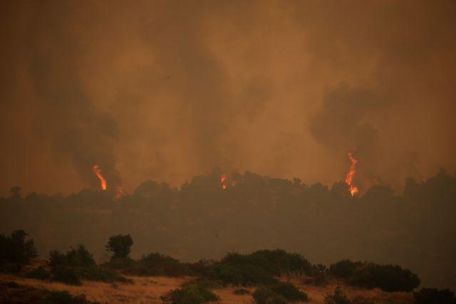 Eκπρόσωπος Πυροσβεστικής στο One Channel: Δημιουργείται αντιπυρικό ανάχωμα λίγο πριν τα Ψαχνά | tanea.gr