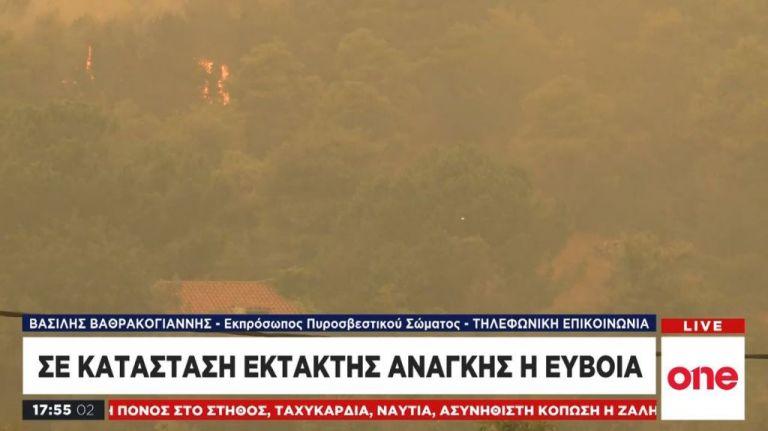 Εκπρόσωπος Πυροσβεστικής στο One Channel: Δημιουργείται αντιπυρικό ανάχωμα λίγο πριν τα Ψαχνά | tanea.gr