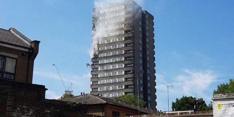 Λονδίνο: Μεγάλη φωτιά απέναντι από τον Πύργο Γκρένφελ   tanea.gr