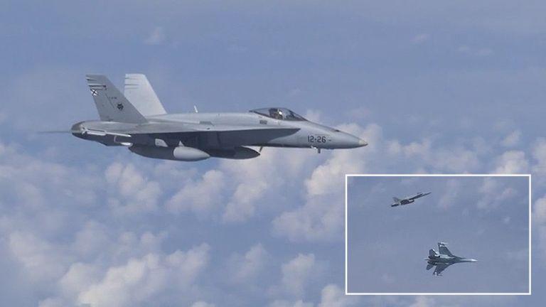 Βίντεο: Ρωσικά μαχητικά απώθησαν πολεμικό αεροσκάφος του ΝΑΤΟ | tanea.gr