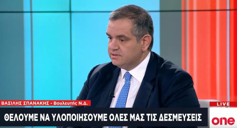 Β. Σπανάκης: Αντίπαλος της ΝΔ μόνο ο χρόνος | tanea.gr