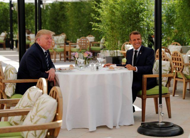 Γεύμα εργασίας για Τραμπ και Μακρόν ενόψει της συνόδου των G7 | tanea.gr