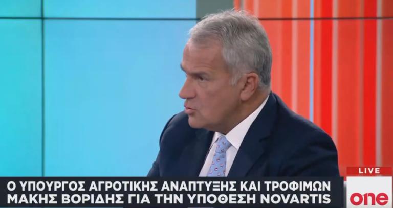Μ. Βορίδης στο One Channel: Σωστή η διαδικασία της προκαταρκτικής για την υπόθεση Novartis | tanea.gr