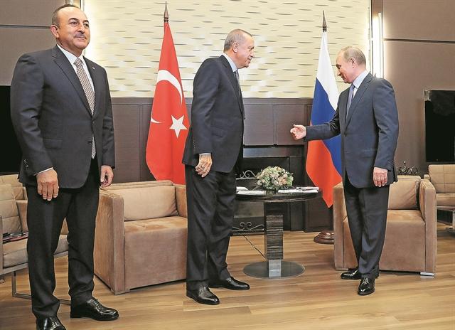 Πούτιν και Ερντογάν «μοίρασαν» τη Βόρεια Συρία | tanea.gr