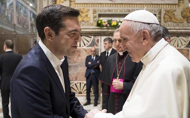 Τα... λατινικά του Τσίπρα στη συνάντηση με τον Πάπα Φραγκίσκο   tanea.gr
