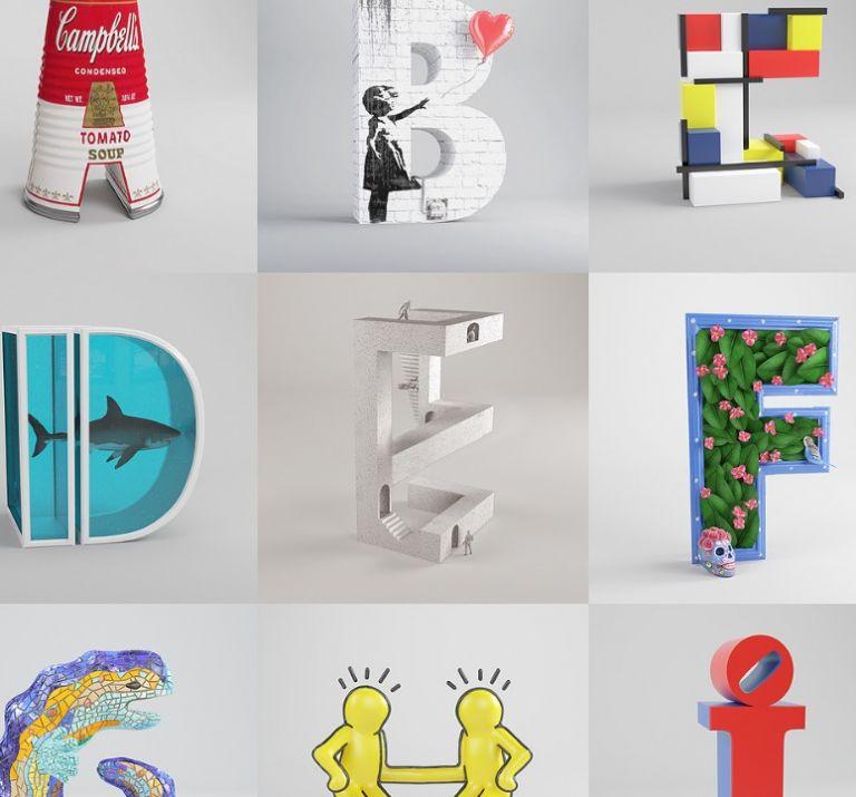 Ένα αλφάβητο από έργα σύγχρονης τέχνης | tanea.gr
