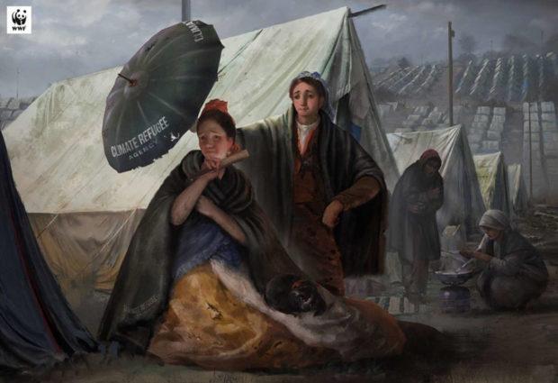 Διάσημοι πίνακες μετατρέπονται και προειδοποιούν για την κλιματική αλλαγή   tanea.gr