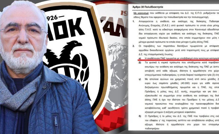 Αμείλικτοι κανονισμοί: Υποβιβασμός για ΠΑΟΚ – Ξάνθη, αποκλεισμός δια βίου για Σαββίδη | tanea.gr