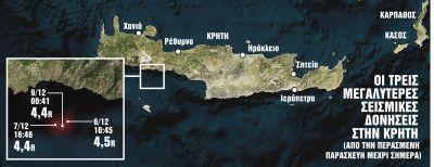 Ενενήντα σεισμοί σε ογδόντα ώρες στα Χανιά - Τι λένε οι ειδικοί | tanea.gr