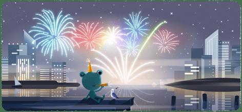 Η Google τιμά την παραμονή Πρωτοχρονιάς με ένα doodle | tanea.gr