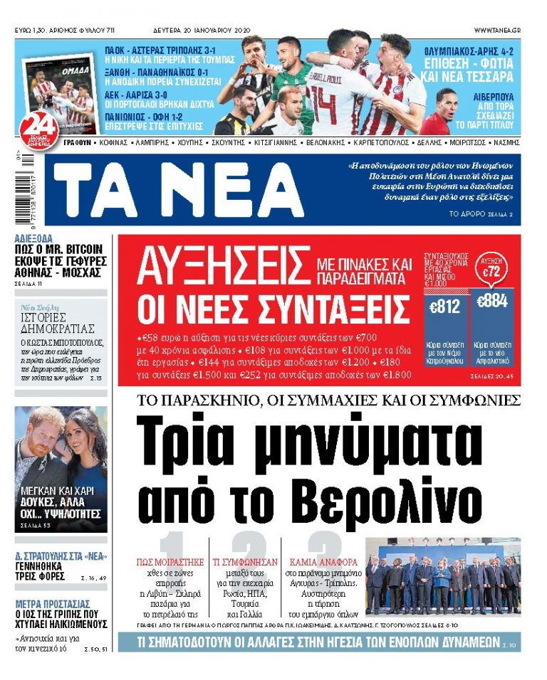 ΝΕΑ 17.01.2020 | tanea.gr