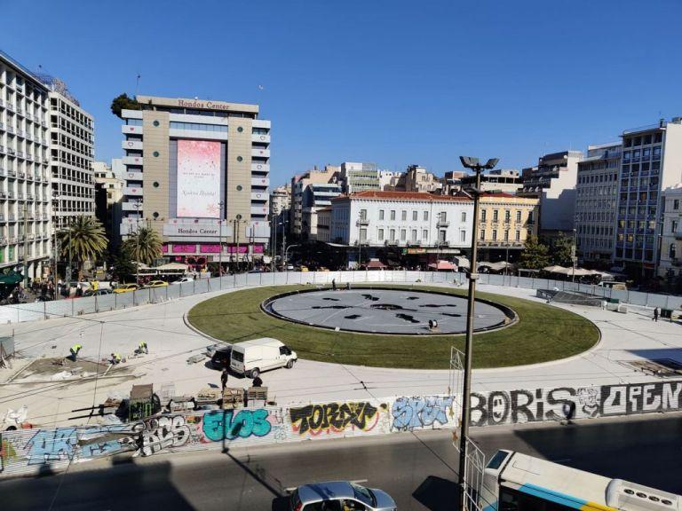Ομόνοια : Δείτε την αναμόρφωση της πλατείας λίγες μέρες πριν την τελική παράδοσή της   tanea.gr