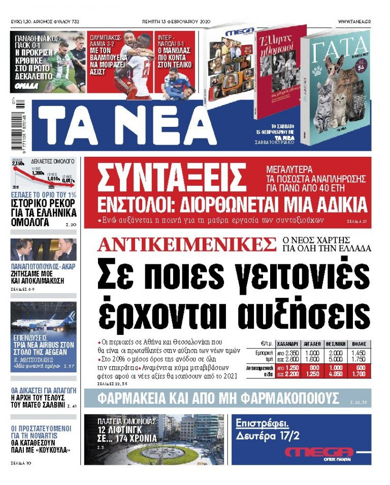 Διαβάστε στα «ΝΕΑ» της Πέμπτης: «Αντικειμενικές: Σε ποιες γειτονιές έρχονται αυξήσεις»   tanea.gr
