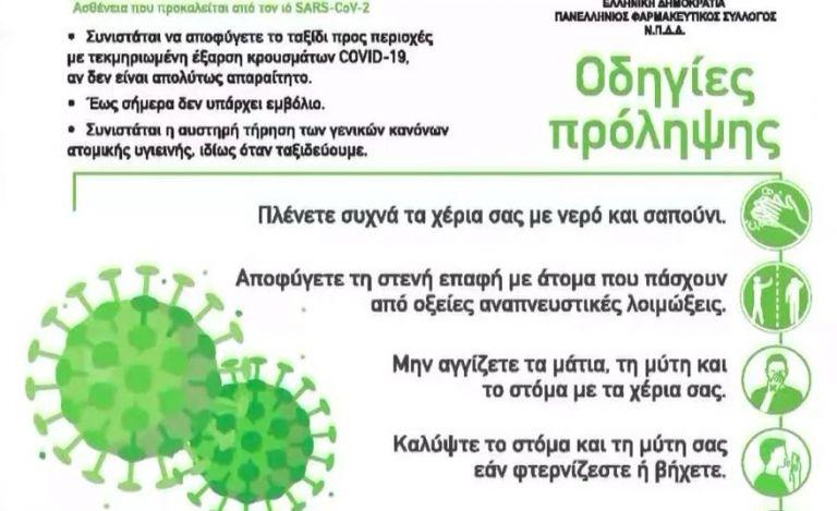 Ενημερωτικά φυλλάδια στα φαρμακεία για τον κορωνοϊό   tanea.gr