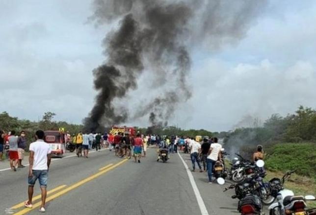 Κολομβία: Επτά νεκροί και 46 τραυματίες από έκρηξη βυτιοφόρου | tanea.gr