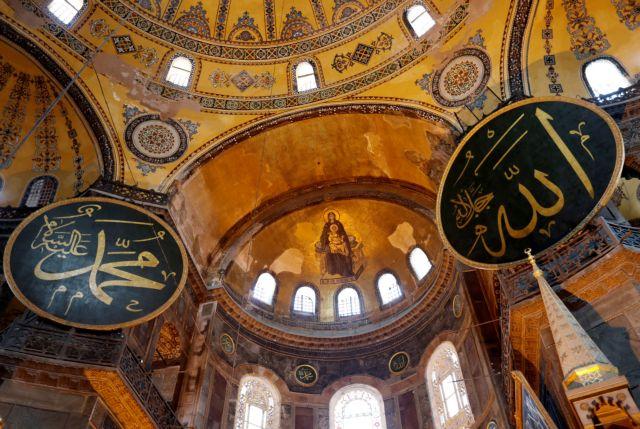 Αγία Σοφία: Κουρτίνες καλύπτουν τις αγιογραφίες εν όψει της προσευχής της Παρασκευής | tanea.gr