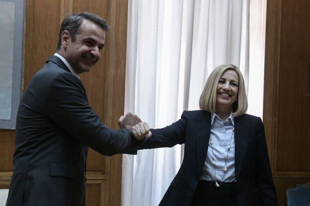 Σε εξέλιξη η συνάντηση του Μητσοτάκη με την Γεννηματά   tanea.gr