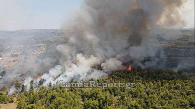 Σε δύο μέτωπα η φωτιά στον Θεολόγο – Διακόπηκε η κυκλοφορία | tanea.gr