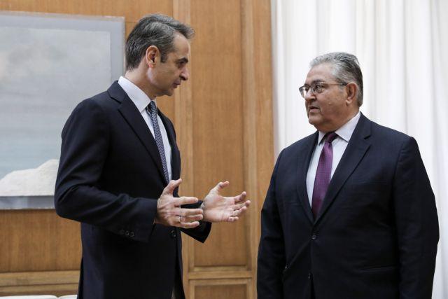 Σε εξέλιξη η συνάντηση Μητσοτάκη – Κουτσούμπα στη Βουλή για τα ελληνοτουρκικά   tanea.gr