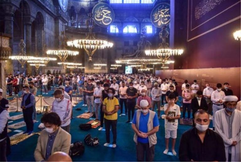 Αγία Σοφία: Πρωινή μουσουλμανική προσευχή για το Κουρμπάν Μπαϊράμ | tanea.gr