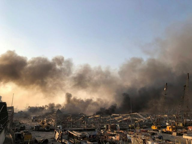 Τρομερή έκρηξη στην Βηρυτό: Αναφορές για δεκάδες τραυματίες   tanea.gr