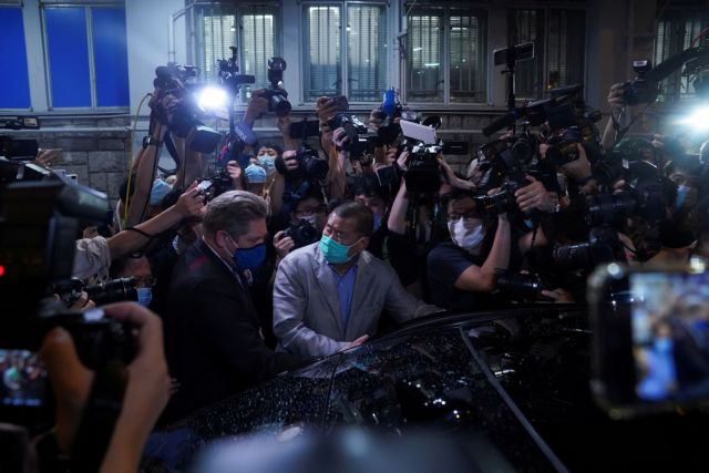 Χονγκ Κονγκ: Αφέθηκε ελεύθερος ο μεγιστάνας του Τύπου Τζίμι Λάι | tanea.gr