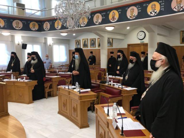 Με μάσκες οι Μητροπολίτες στη συνεδρίαση της Ιεράς Συνόδου   tanea.gr