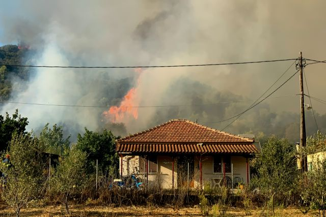 Μαίνεται η πυρκαγιά στην Ηλεία – Μεγάλη αναζωπύρωση κοντά στο χωριό Δάφνη | tanea.gr