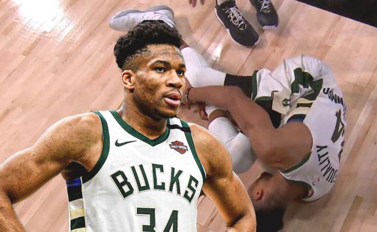 NBA: Έφυγε με προστατευτική μπότα ο Γιάννης – Αμφίβολος για το Game 5 | tanea.gr