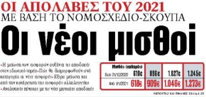 Στα «ΝΕΑ» της Πέμπτης: Οι νέοι μισθοί | tanea.gr