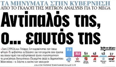 Στα «ΝΕΑ» της Παρασκευής: Αντίπαλός της, ο… εαυτός της | tanea.gr