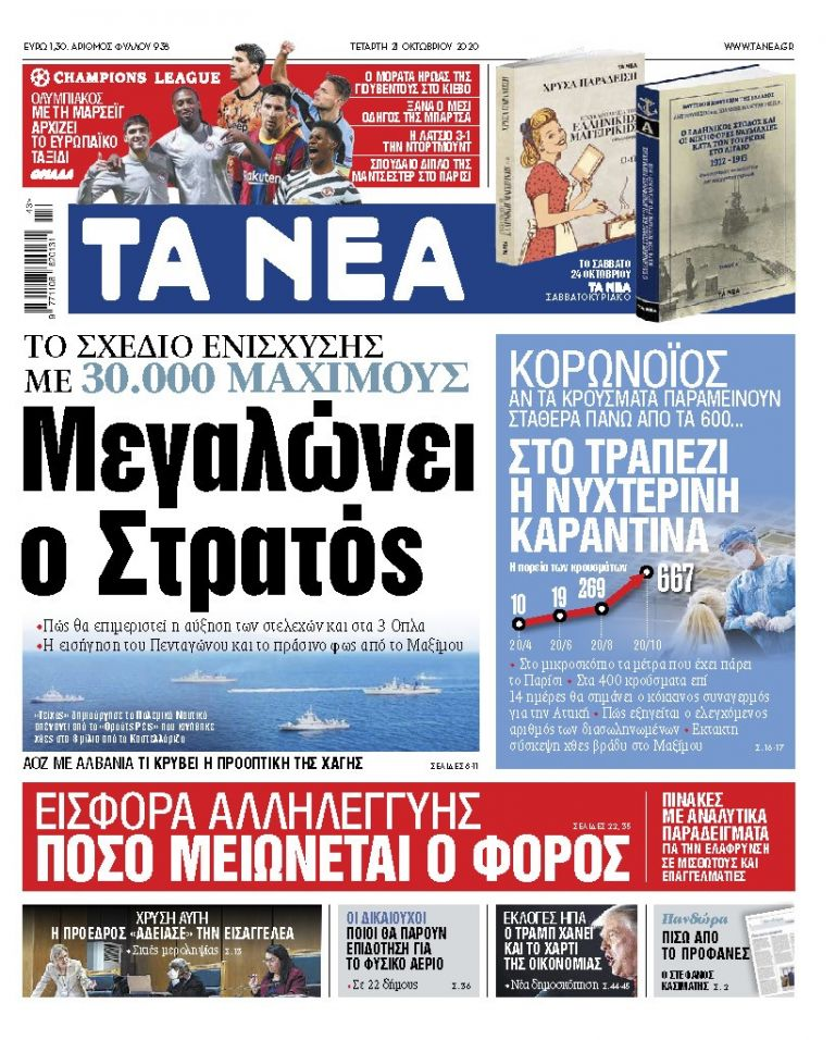 ΝΕΑ 21.10.2020 | tanea.gr