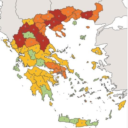 Κοροναϊός : Αυτός είναι ο επικαιροποιημένος χάρτης | tanea.gr