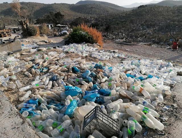 Απίστευτες εικόνες: Απέραντη χωματερή το καμένο ΚΥΤ Μόριας | tanea.gr