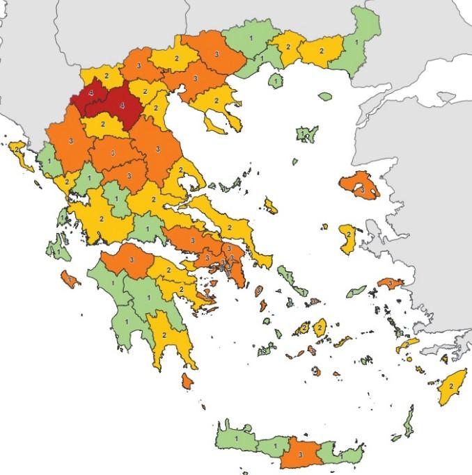 Κοροναϊός : Αλλαγές στο χάρτη υγειονομικής ασφάλειας | tanea.gr