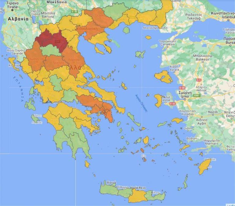 Κοροναϊός : Αλλαγές στον Χάρτη Υγειονομικής Ασφάλειας – Σε ποιες περιοχές   tanea.gr