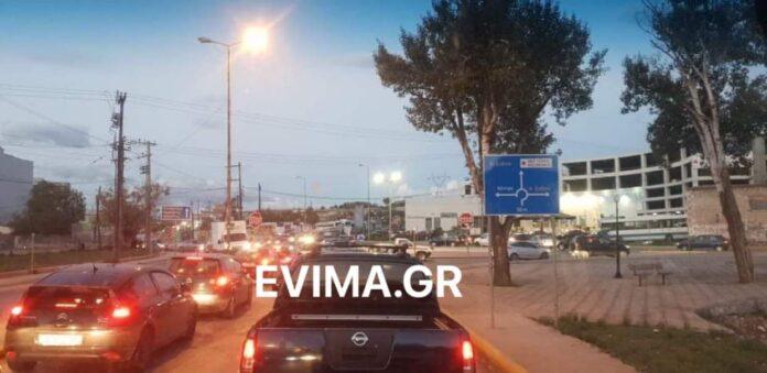 Εύβοια : Χαοτική η εικόνα στην είσοδο της Χαλκίδας | tanea.gr