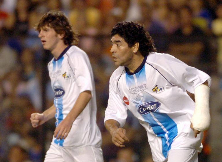 Μαραντόνα και Μέσι συμπαίκτες : Η απόλυτη ποδοσφαιρική μαγεία | tanea.gr