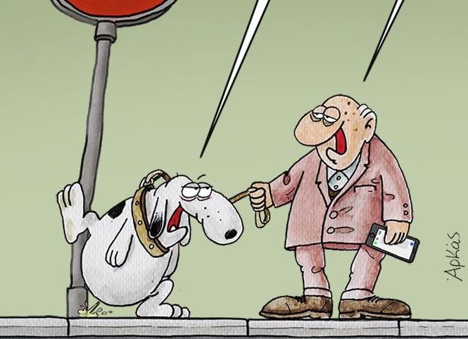 Αρκάς : Το σκίτσο για το lockdown έχει πρωταγωνιστή ένα τετράποδο   tanea.gr