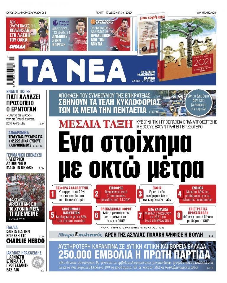 ΝΕΑ 17.12.2020 | tanea.gr