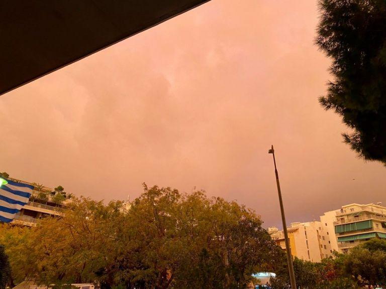 Καιρός : Εντυπωσιακή εικόνα της Αττικής λίγο πριν την καταιγίδα | tanea.gr