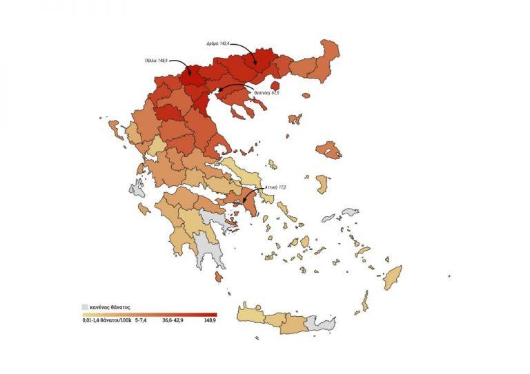 Κοροναϊός : Πόσοι είναι οι νεκροί ανά περιφέρεια | tanea.gr