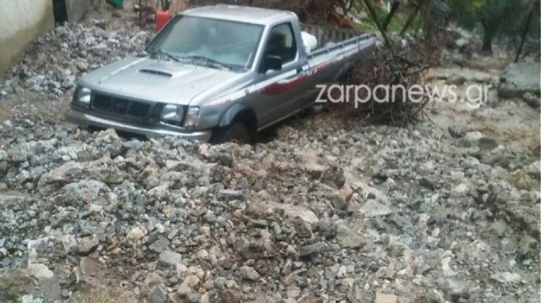 Κακοκαιρία στα Χανιά : Παρασύρθηκε κτηνοτρόφος με το αυτοκίνητό του   tanea.gr