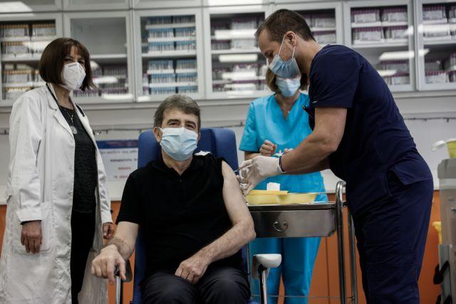 Στον «Ευαγγελισμό» εμβολιάστηκε ο Χρυσοχοΐδης | tanea.gr