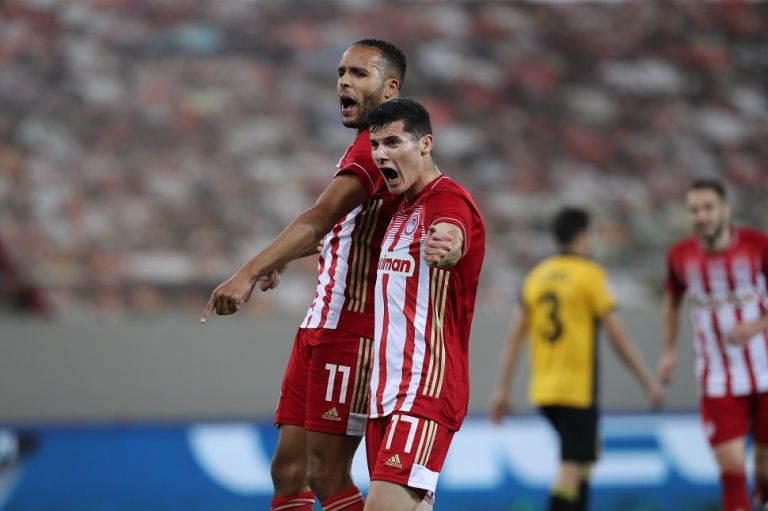 Ολυμπιακός – ΑΕΚ : Υπέροχη κεφαλιά Ελ Αραμπί και 1-0 (vid) | tanea.gr
