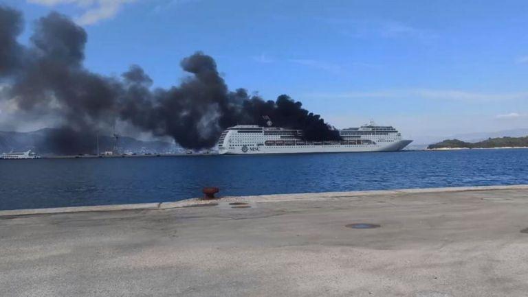 Φωτιά σε κρουαζιερόπλοιο στην Κέρκυρα | tanea.gr
